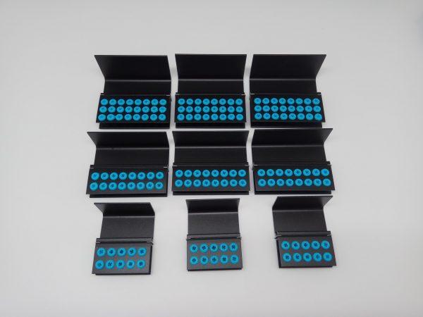 Burs Holder 16 Holes Blue Silicon Plugs Autoclavable