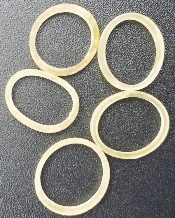 Elastics 3.2mm 1/8 Silicone O-Rings