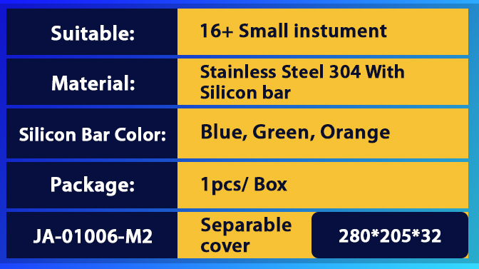 Instrument Cassette With Blue Silicon Mat