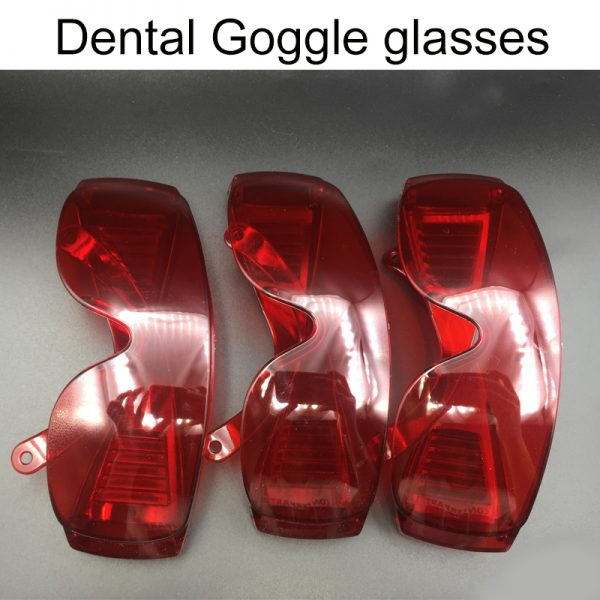 Dental Goggle glasses for curing light Teeth whitening Protection Eye red