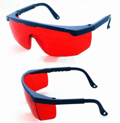 Safety Goggle Red With Black Frame (UV 400 Protection)