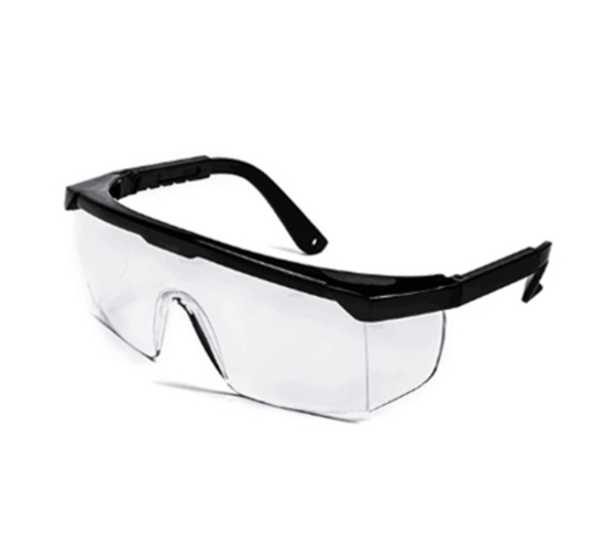 Safety Goggle Clear With Black Frame